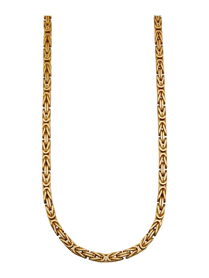 Amara Or Collier maille royale en argent 925, doré, Coloris or jaune