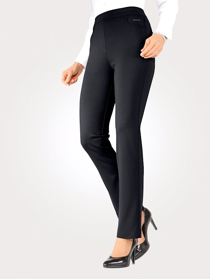 Relaxed by Toni Jersey trousers in pull-on style, Navy