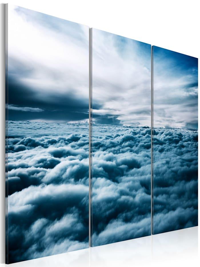 artgeist Wandbild Dichte Wolken, Blau,Dunkelblau,Himmelblau