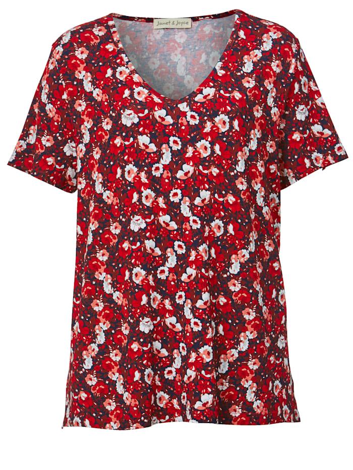 Shirt mit Blumenmuster allover