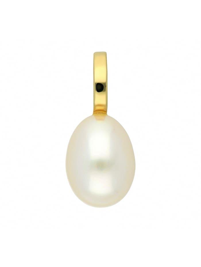 1001 Diamonds Damen Goldschmuck 585 Gold Anhänger mit Süßwasser Zuchtperle, gold