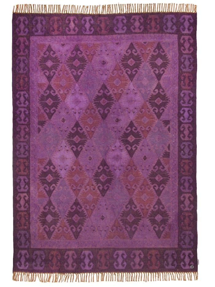 Tom Tailor Flachflorteppich Vintage Kelim Colors, Lila