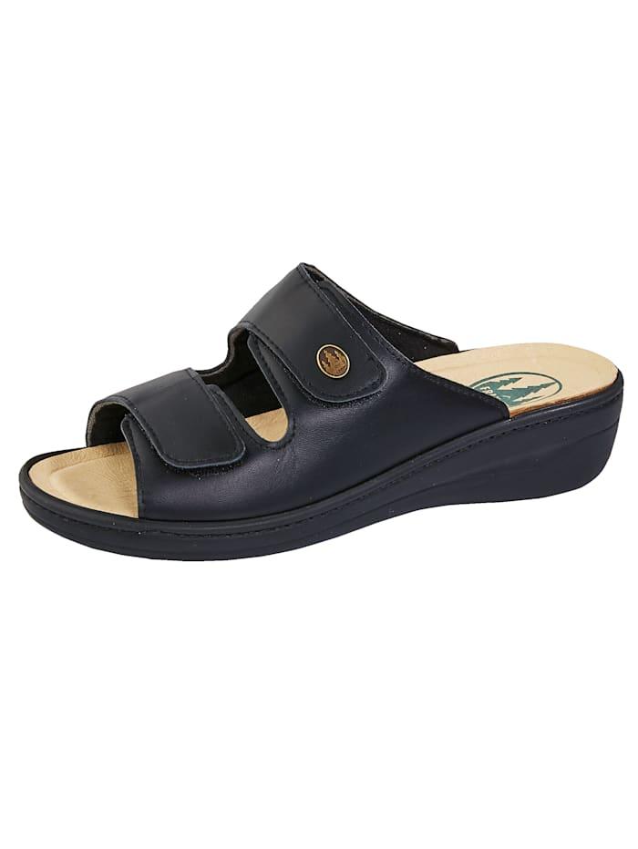 Franken Schuhe Pantolette ideal bei Hallux Valgus, Schwarz