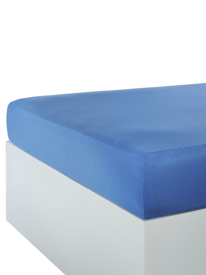 Webschatz Microfaser Spannbettlaken, azurblau