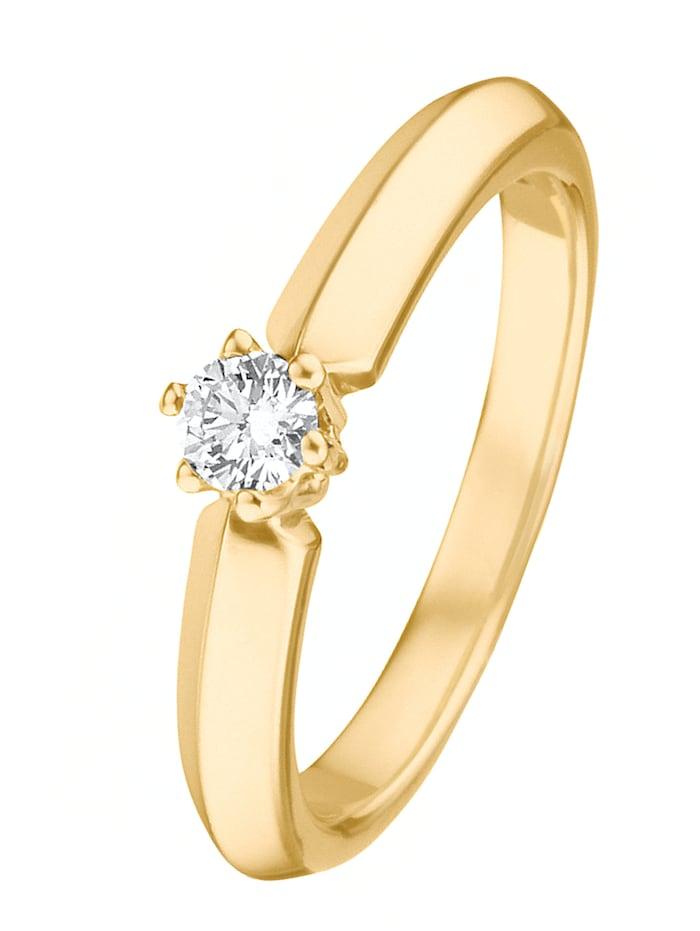 CHRIST C-Collection CHRIST Damen-Damenring 585er Gelbgold 1 Brillanten, gold