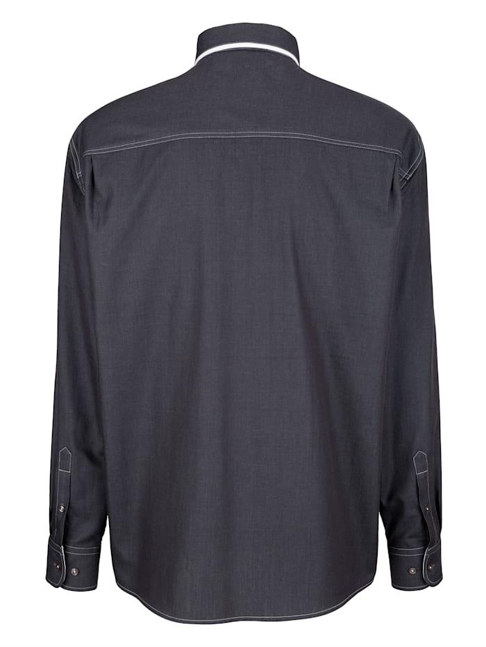 Bomullsskjorta med dubbelkrage