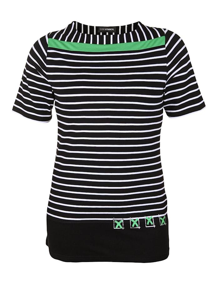 Shirt mit Kontraststreifen Kontrastverarbeitung