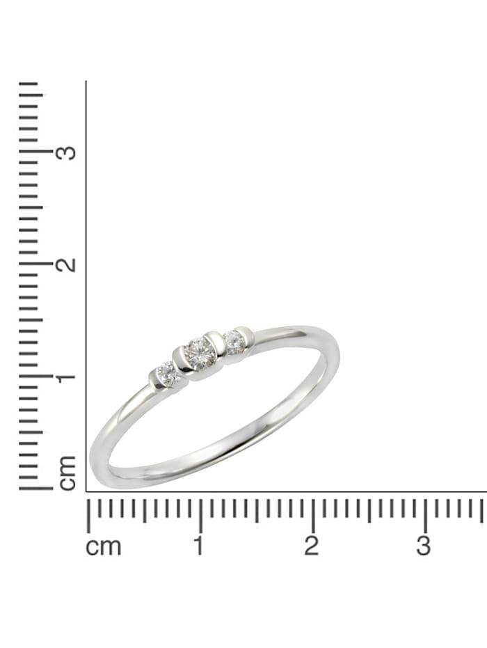 Ring 585/- Gold Brillant weiß Brillant Glänzend 0.11Karat 585/- Gold