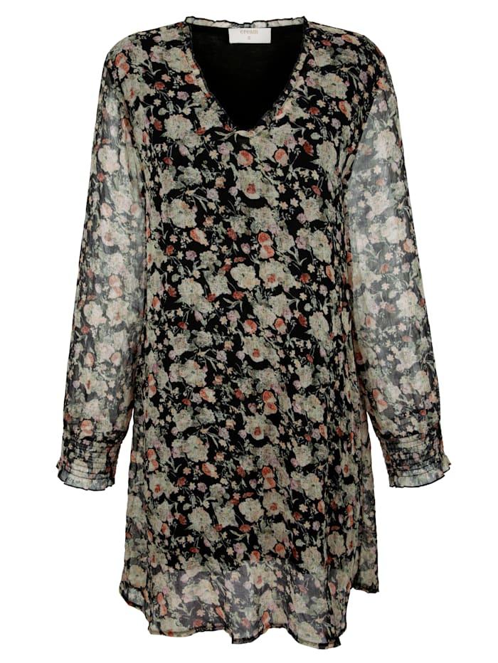 Lange blouse met bloemenprint allover