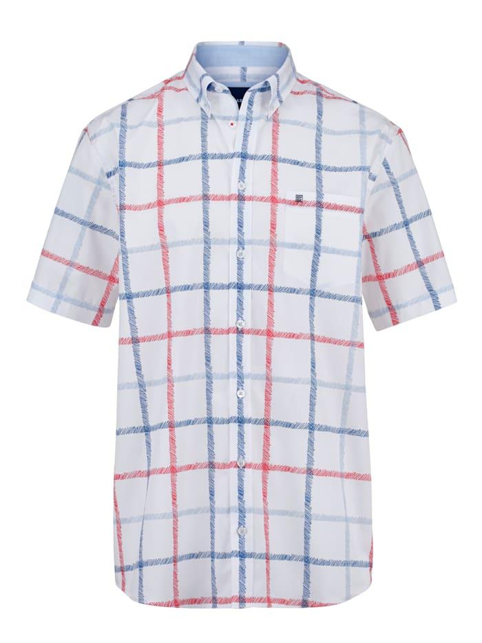 BABISTA Hemd mit maritimem Karomuster, Weiß/Rot/Blau