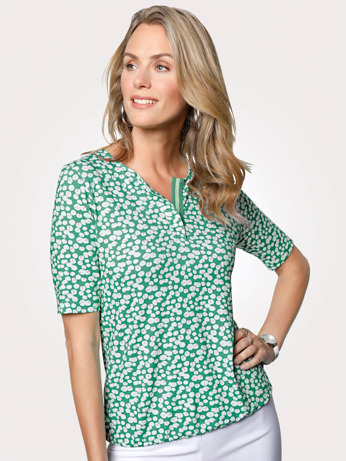 Rabe Top with a sophisticated minimalist design, Green/White