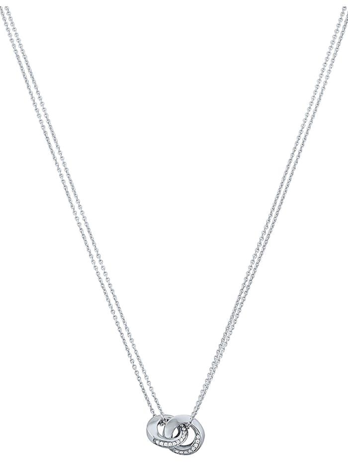 Jette JETTE Damen-Kette 925er Silber rhodiniert 54 Zirkonia, silber