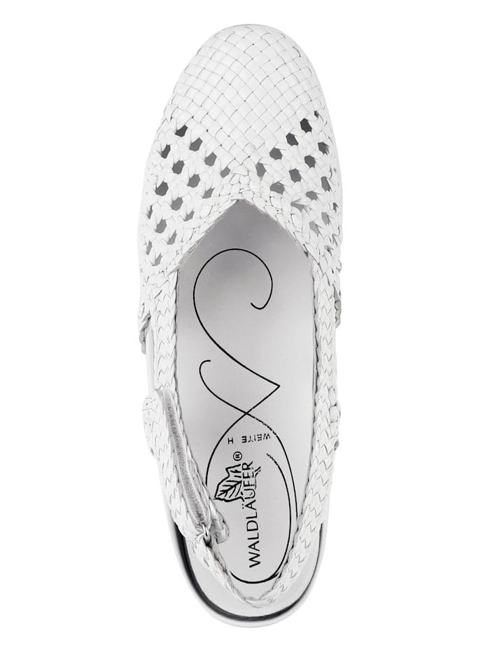 Slingback shoes elaborately braided leather