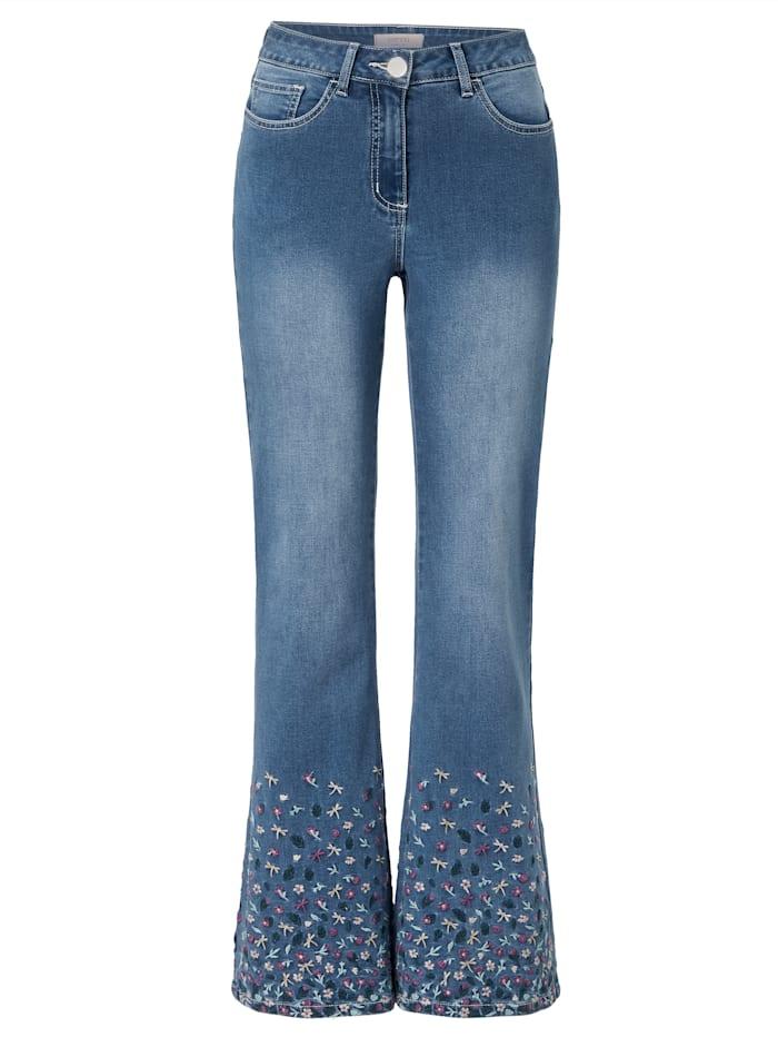 SIENNA Jeans mit Blumenstickerei, Blau