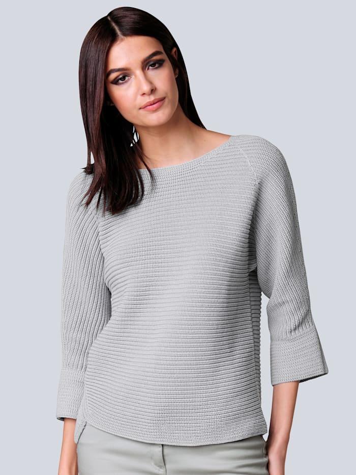 Alba Moda Pullover in Querrippe, Grau