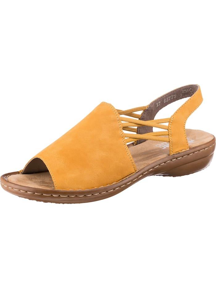 Rieker 120 Komfort-Sandalen, gelb