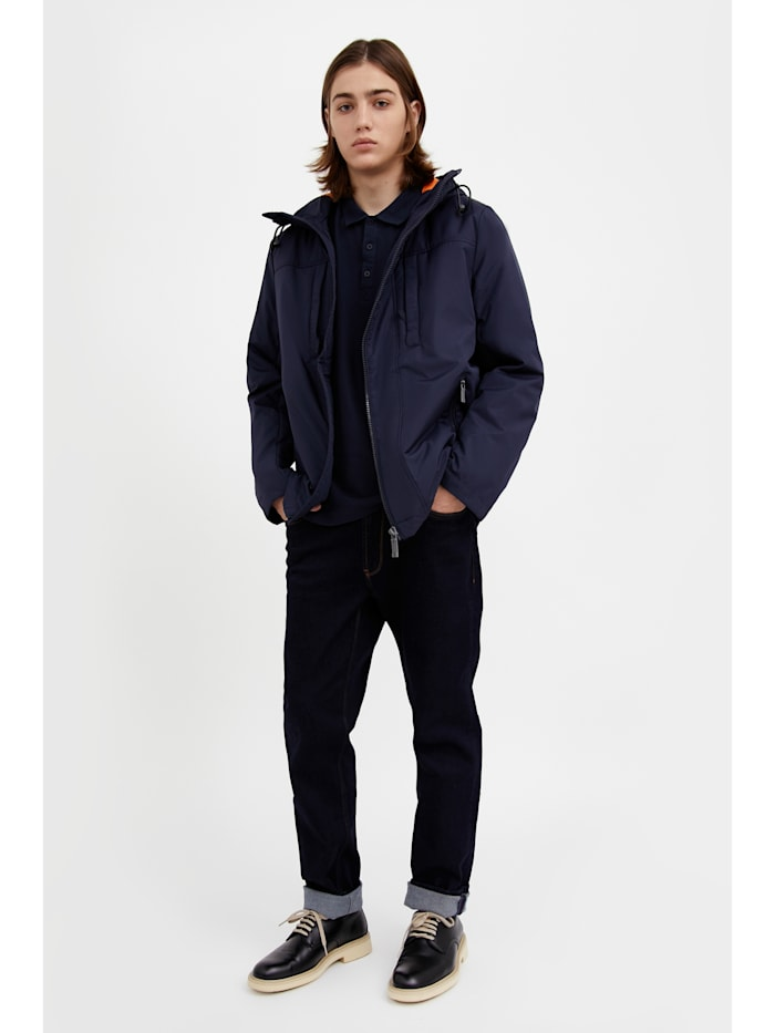 Kurze Jacke mit seitlichem Reißverschluss