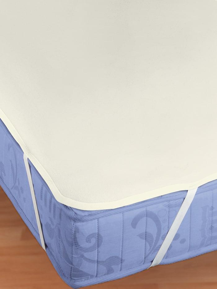 Biberna Molton matrasbeschermer 'Sleep & Protect', ecru