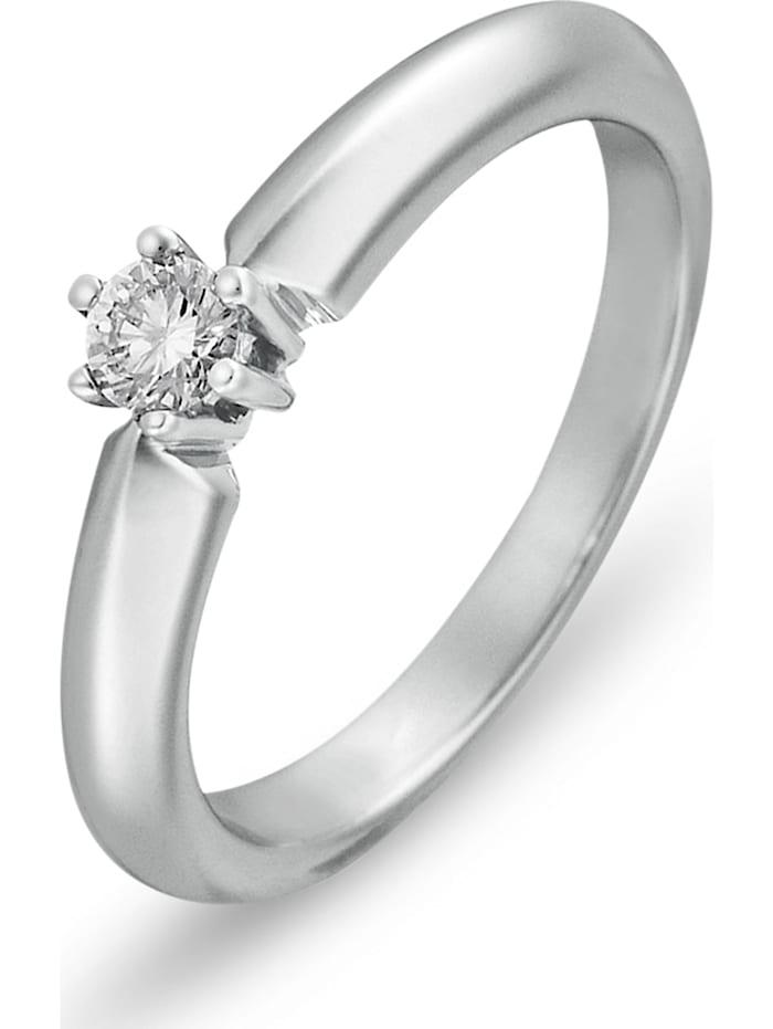 CHRIST Diamonds CHRIST Damen-Damenring 585er Weißgold 1 Diamant, Weißgold