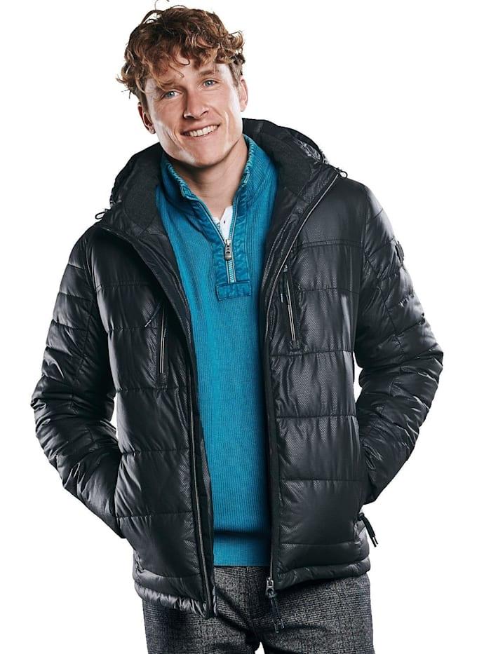 Engbers Jacke mit perforierter Oberflächenstruktur, Schwarz