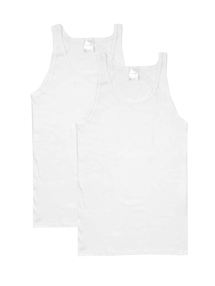 Schiesser Shirt ohne Arm 2-Pack, weiss