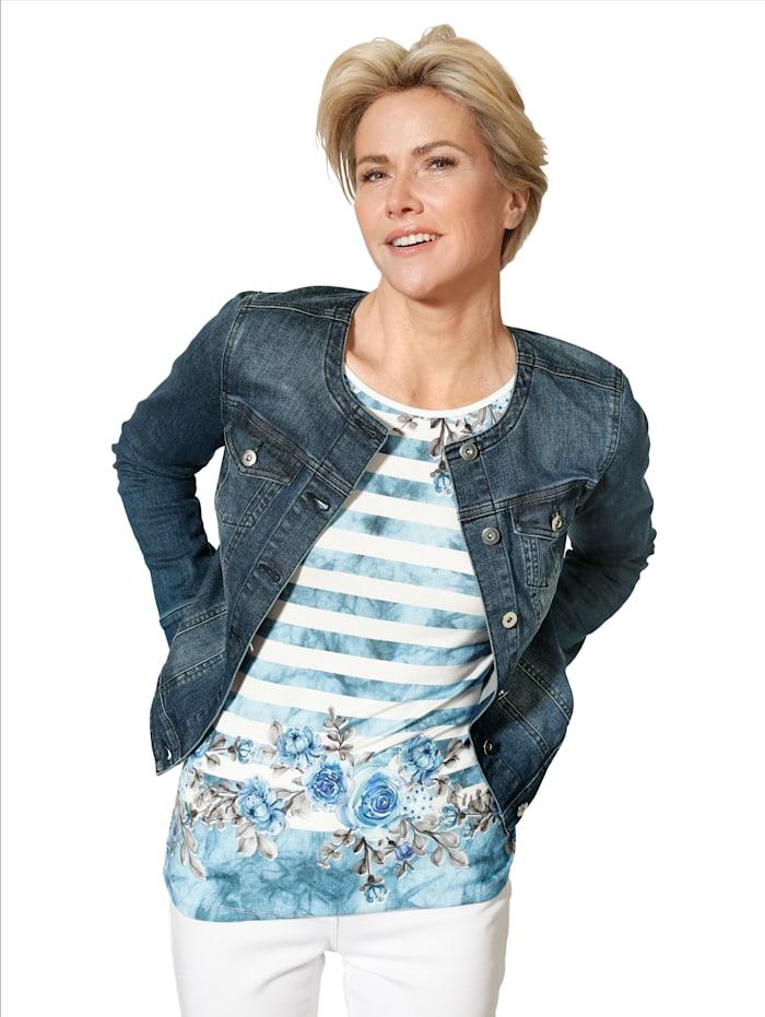 MONA Jeansjacke in trageangenehmer Denim-Qualität, Blau