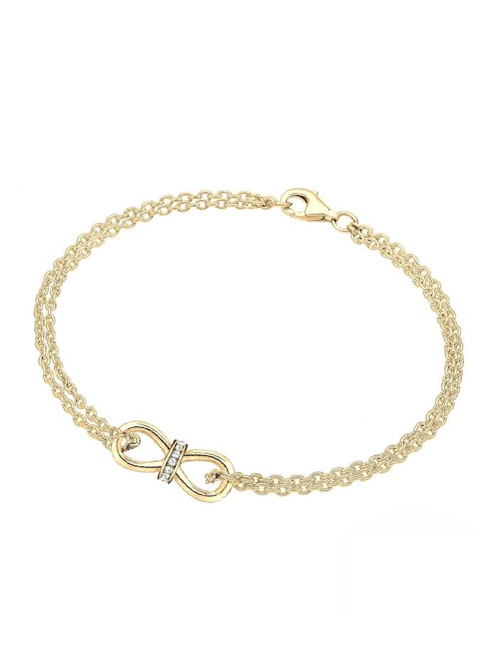 Armband Infinity Endlos Swarovski® Kristalle 925 Silber