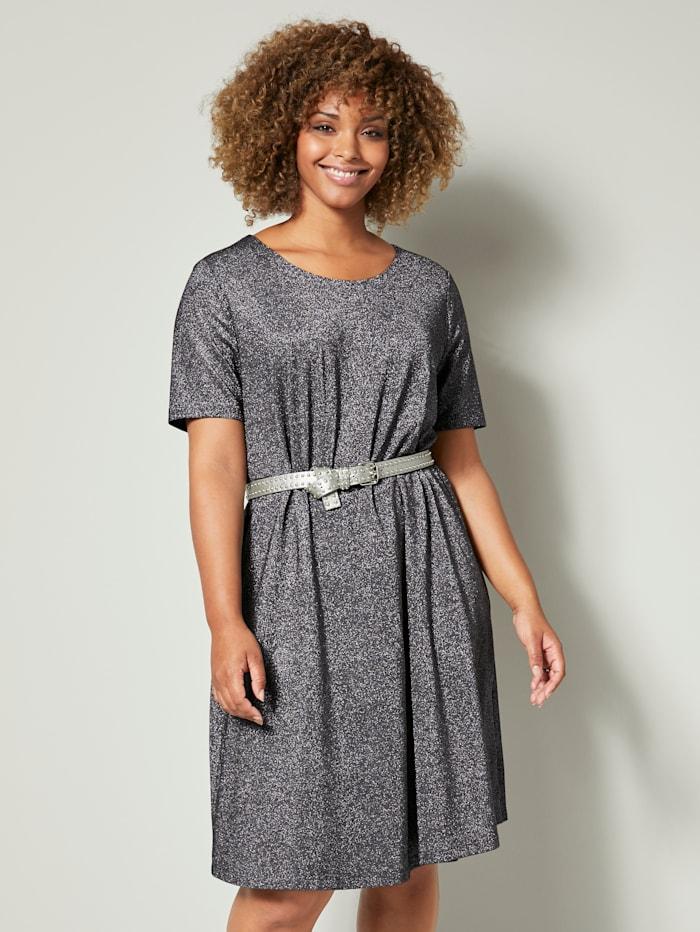 Jersey jurk van glitterstof