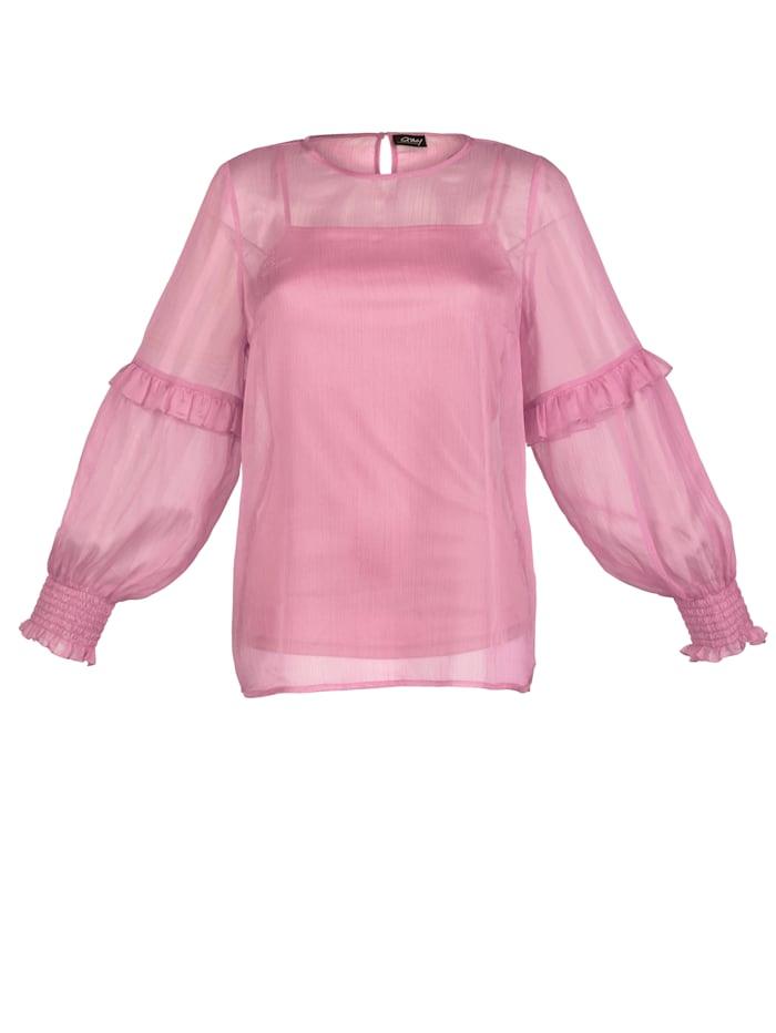 Bluse mit abknöpfbarem Unterziehtop