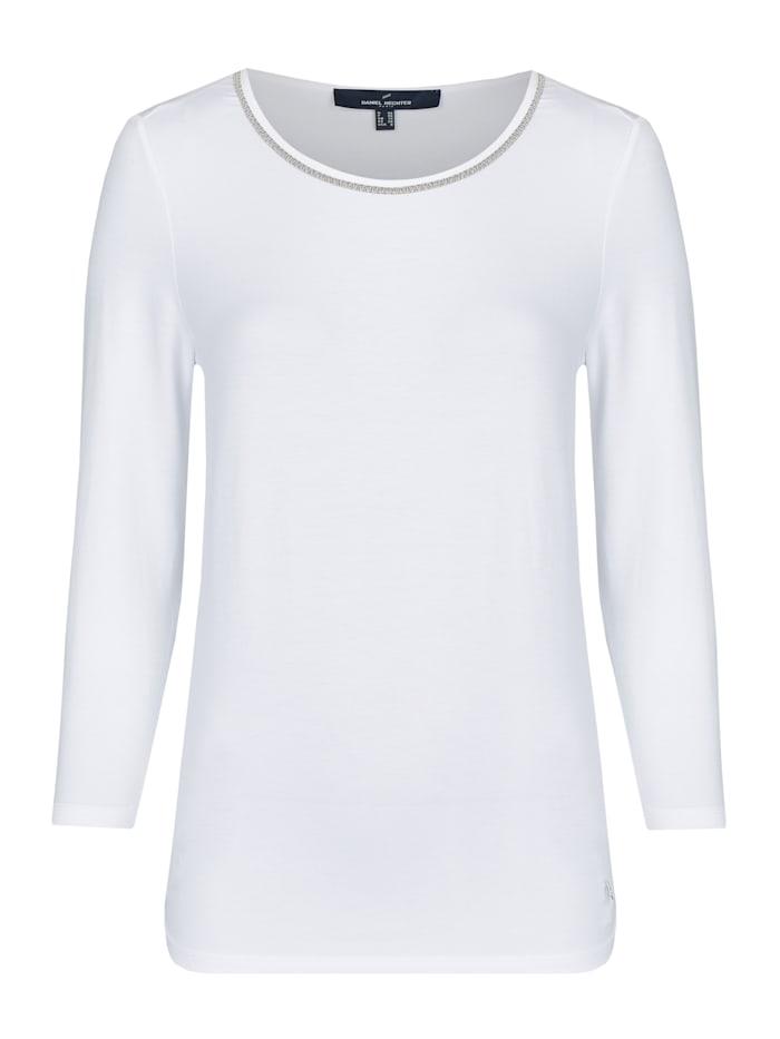 Daniel Hechter Modernes Shirt in sommerlicher Qualität, white