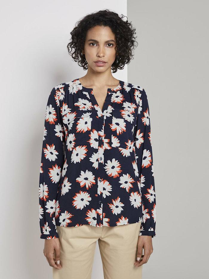 Tom Tailor mine to five Langarmbluse mit Blumenmuster, navy floral design