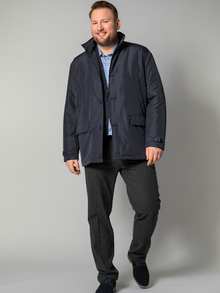 Men Plus Longjacke, Marineblau