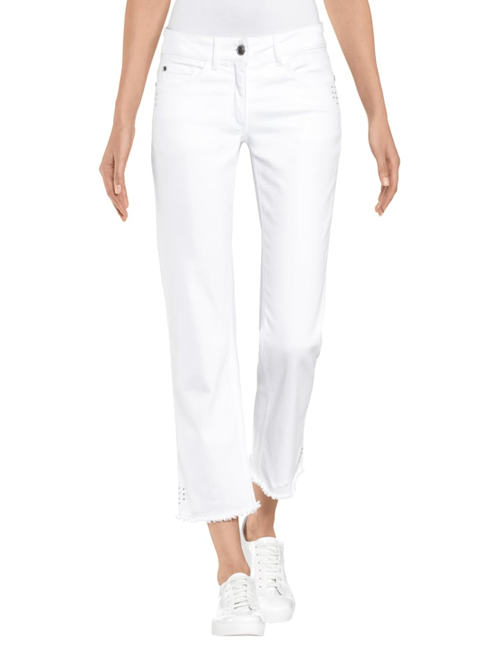 Alba Moda Hose in 5-Pocket-Form, Weiß