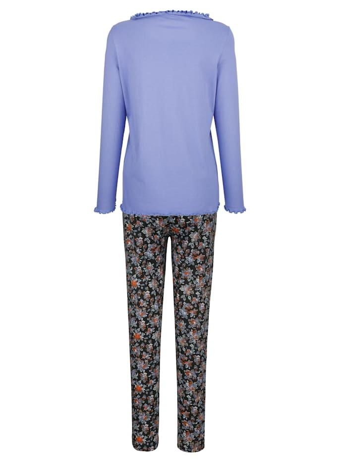 Schlafanzug mit hübschem Wellensaumabschluss