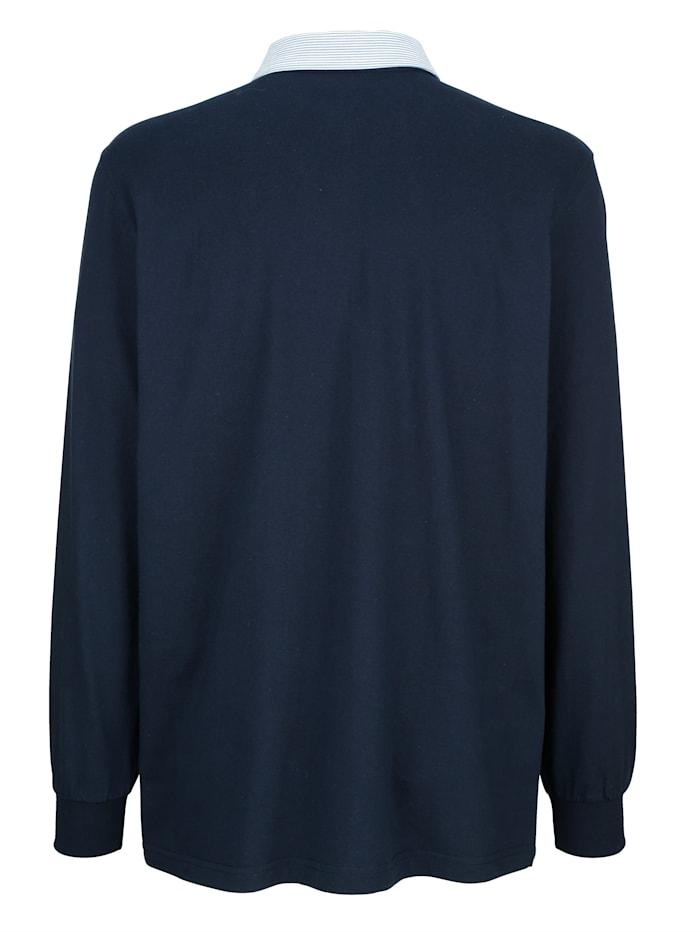 Poloshirt met gestreepte kraag