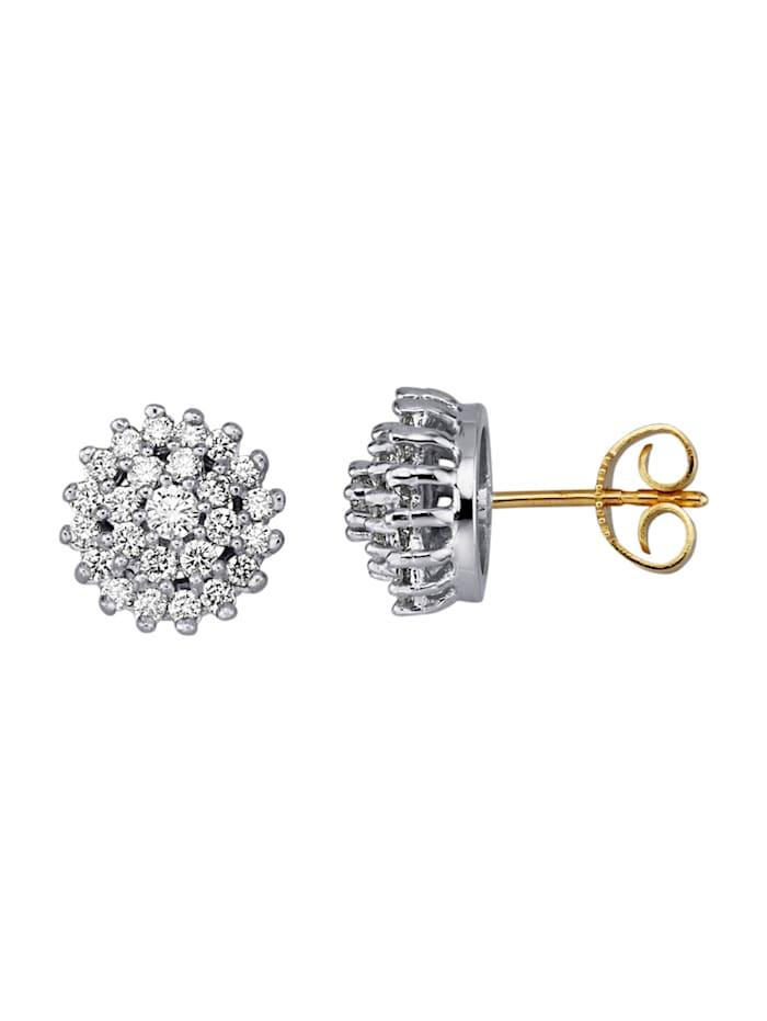Amara Diamant Ohrstecker mit 50 Brillanten, Weiß