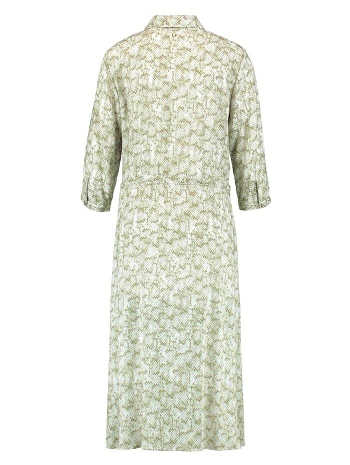Midi-Kleid mit Snake-Print