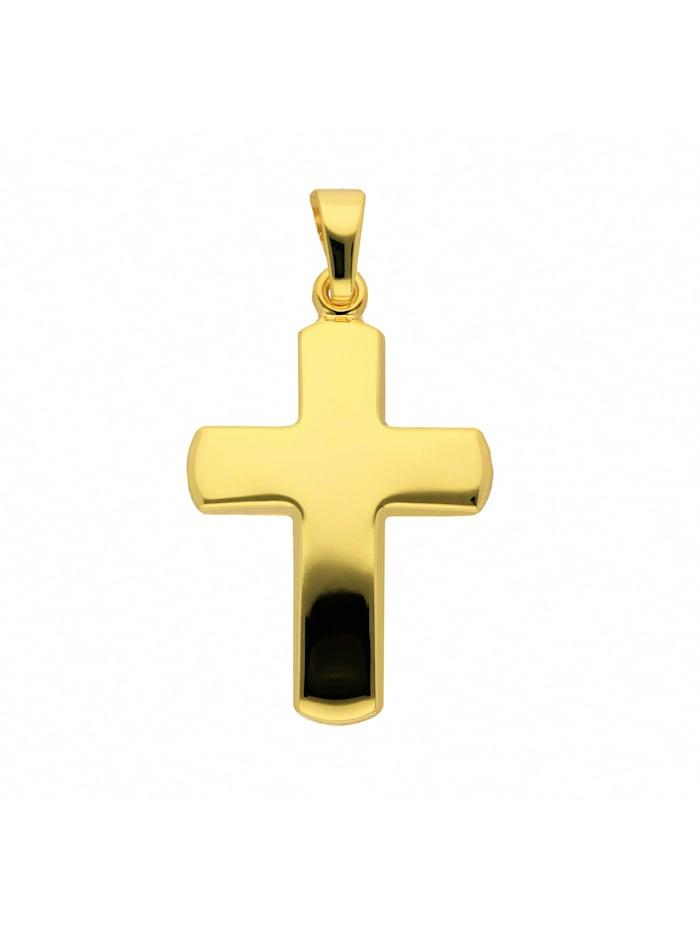 1001 Diamonds Damen & Herren Goldschmuck 333 Gold Kreuz Anhänger, gold