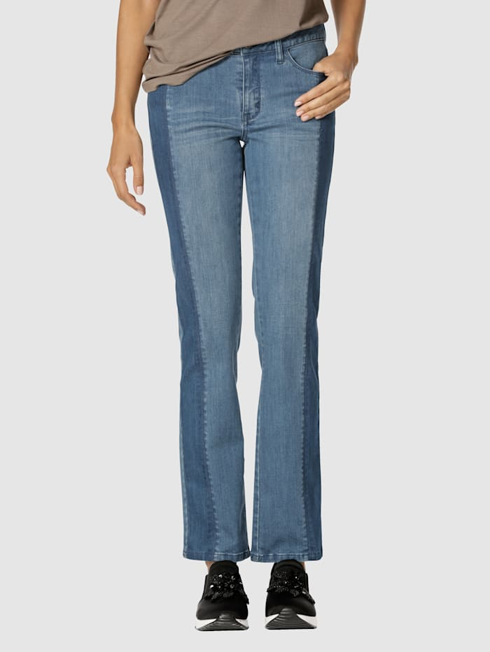 AMY VERMONT Jeans in 5-Pocket-Form, Blue stone