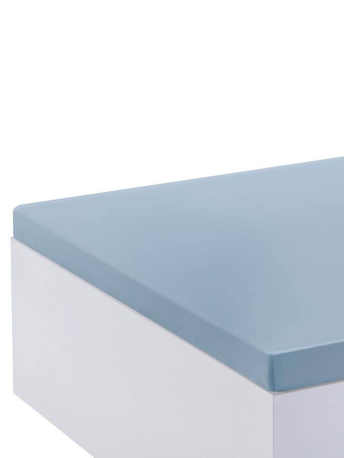 Webschatz Topper-Spannbettlaken, hellblau