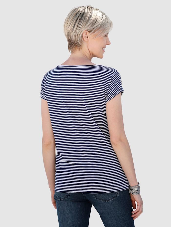 Shirt im modischen Streifen-Dessin