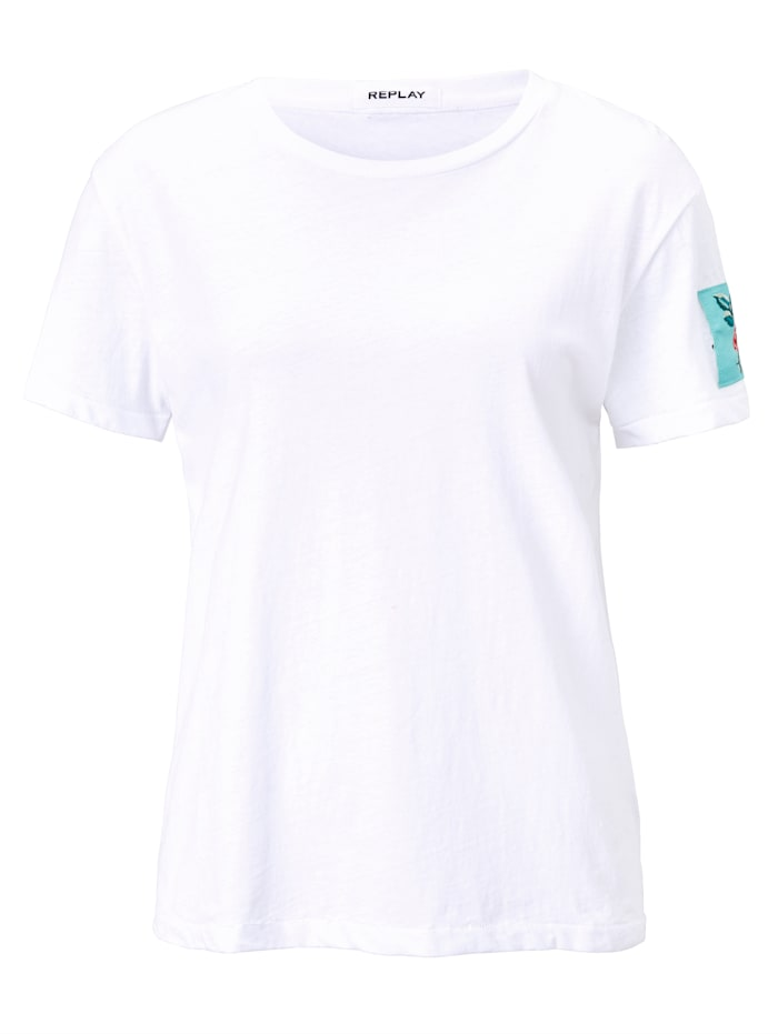 REPLAY T-Shirt, Weiß