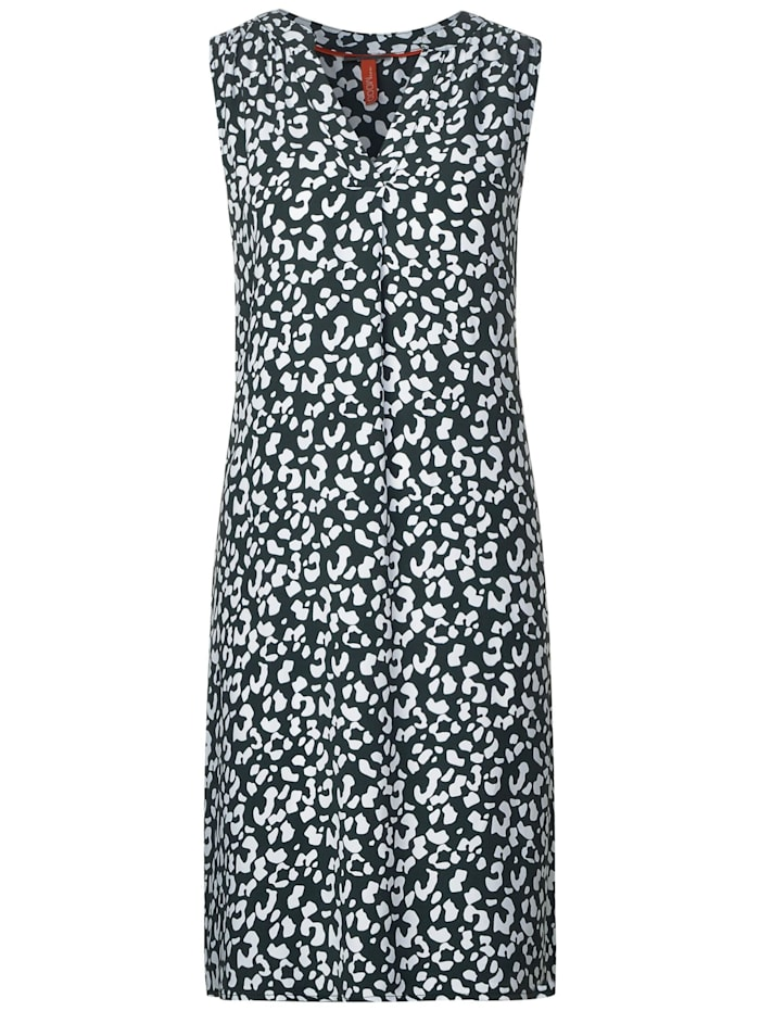 Ärmelloses Kleid mit Muster