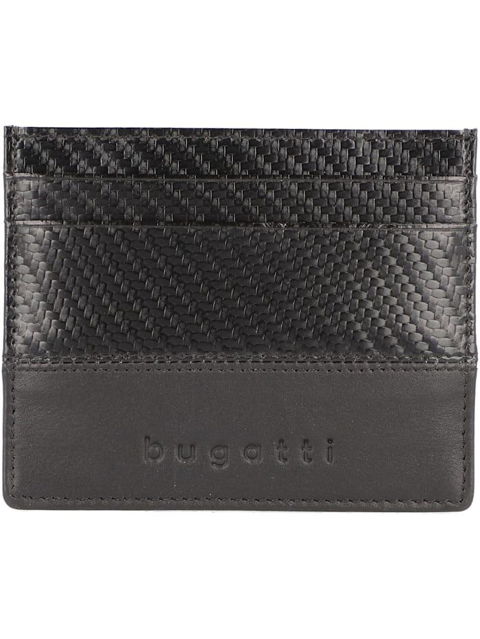 Bugatti Comet Kreditkartenetui RFID Leder 10 cm, schwarz