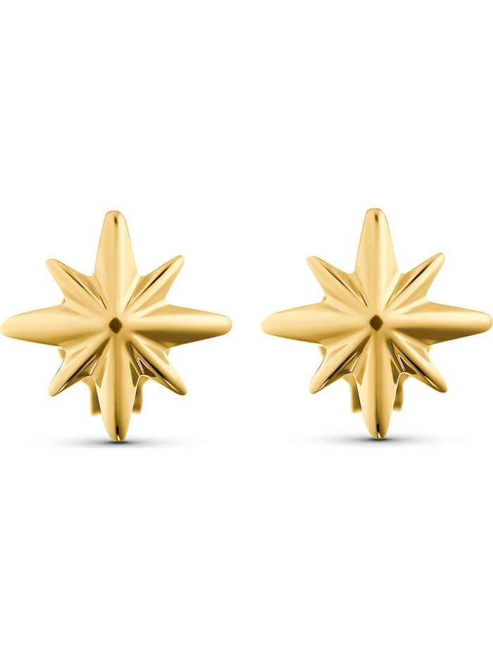 CHRIST GOLD CHRIST Gold Damen-Ohrstecker Ohrschmuck Polarstern 375er Gelbgold, gelbgold