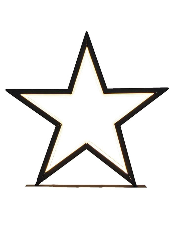 Star Stehleuchte, Stern, schwarz