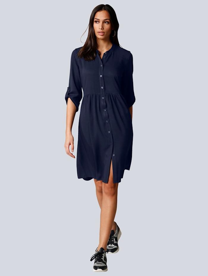 Alba Moda Kleid mit kleinen Raffungen im Taillenbereich, Marineblau