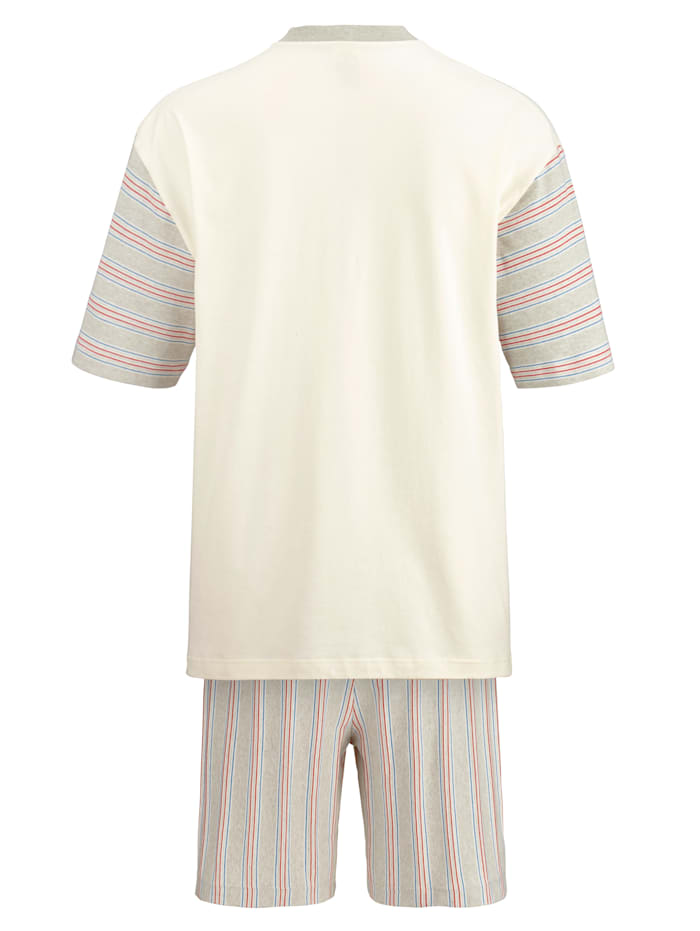 Shorty aus farbig gewachsener Baumwolle