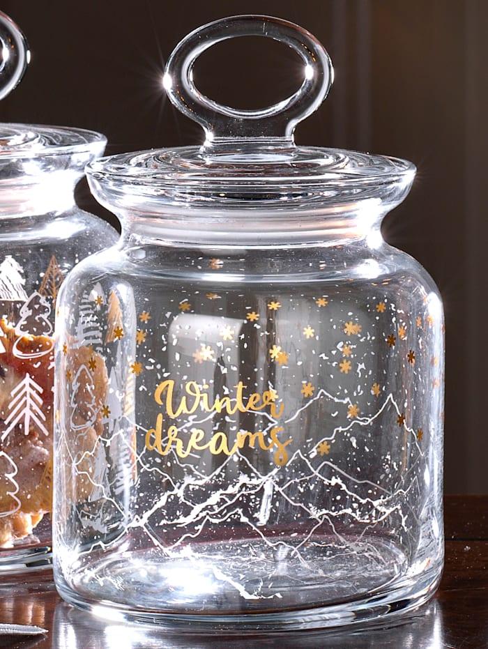 Ritzenhof & Breker Bocal en verre 'Dreams Winter', 1 L, Incolore
