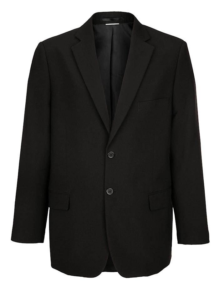 Roger Kent Veste de costume de la gamme à combiner, Noir